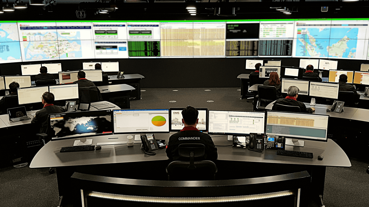 Enterprise data command center for managed network security services
