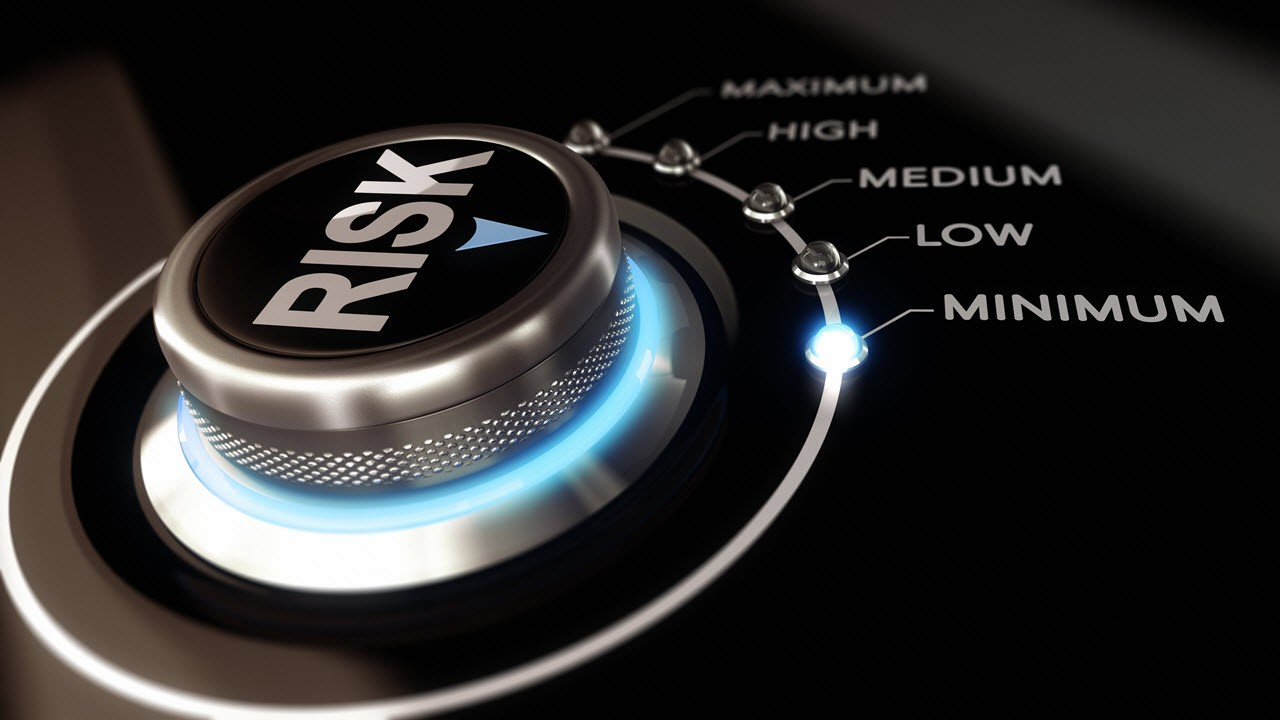 Risk knob that shows level of security risk and design assessment of your IT security